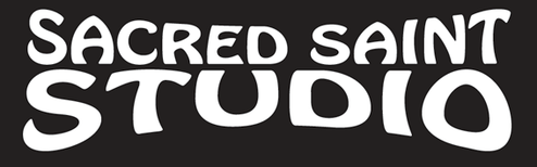 Sacred Saints studio art logo granted not